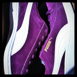 Purple Puma Suedes ladies 7 US